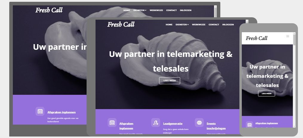Nieuwe website Fresh Call